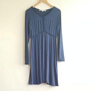 Max Studio blue longsleeve dress